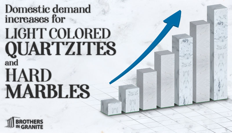 Domestic Demand Increases for Light Colored Quartzites and